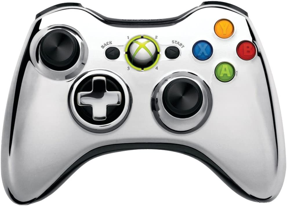 Coloring Pages Xbox 360 : Amazon.com: xbox 360 wireless controller chrome silver: video games