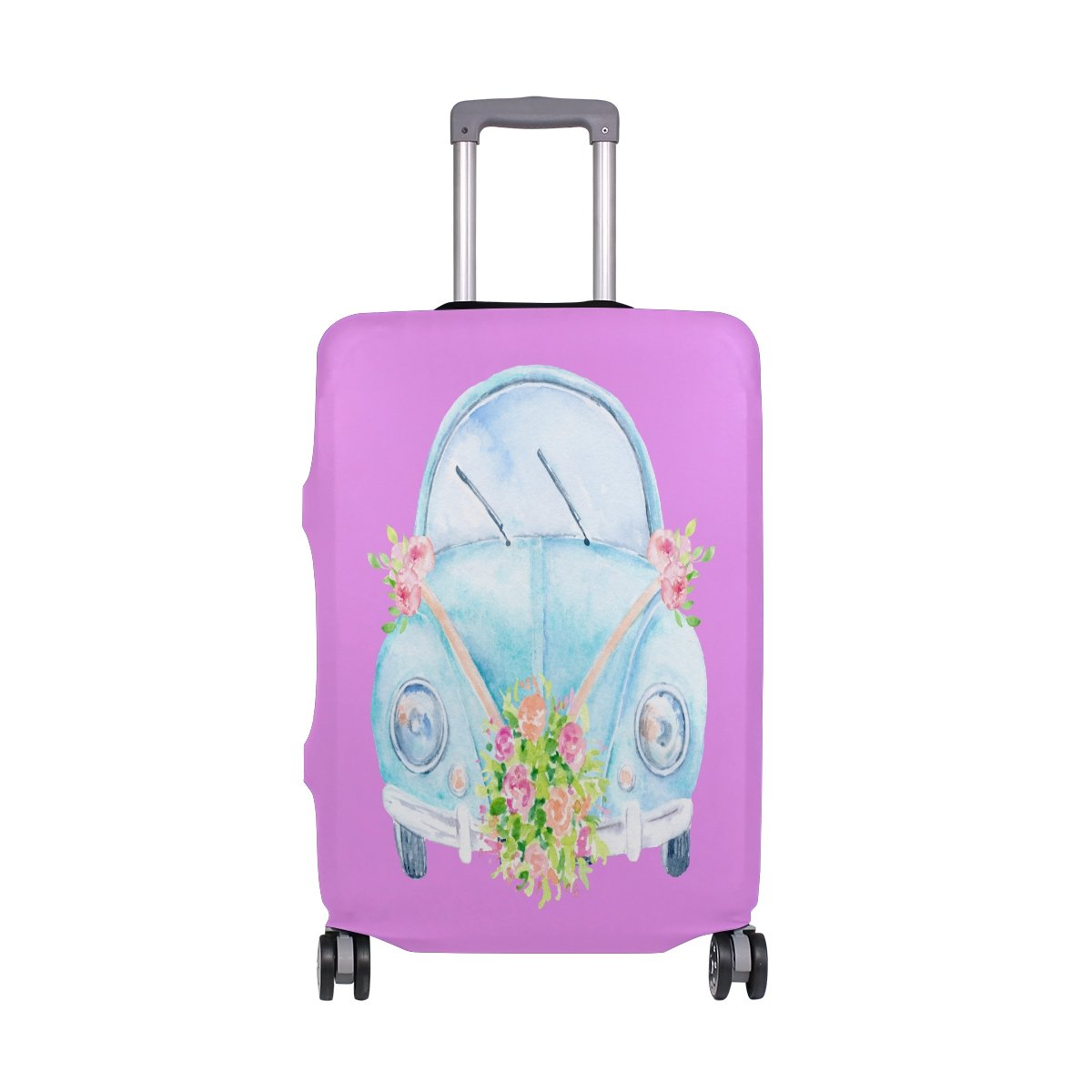 Wedding Car Travel Luggage Cover Washable Spandex Baggage Suitcase Cover Protector Carry On Covers Fits M 22-24 in