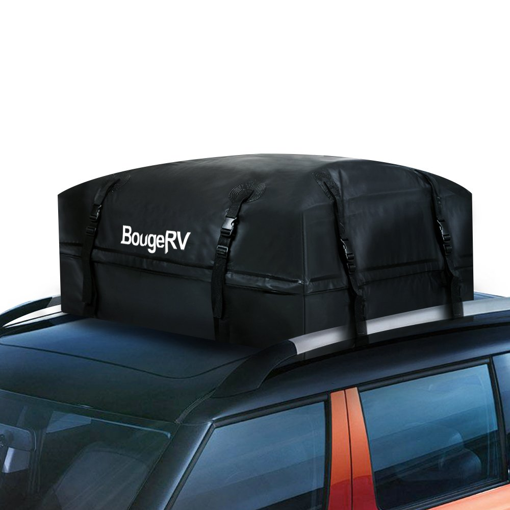 BougeRV Car Roof Boxes Waterproof Cargo Bag 425 LITRES 1000D SUPER STRONG Car Roof Rack Bags Storage for ANY CAR with Wide Straps for Long Journeys Holidays and Luggage Transportation UKIRV017