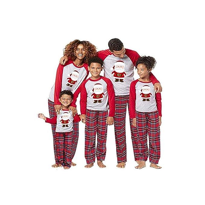 BaZhaHei-Navidad Mamá Papá Noel Tops Blusa Pantalones Pijamas ...
