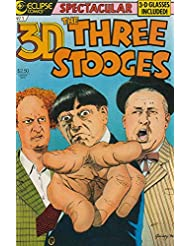 3-D Three Stooges #1 VF/NM ; Eclipse comic book