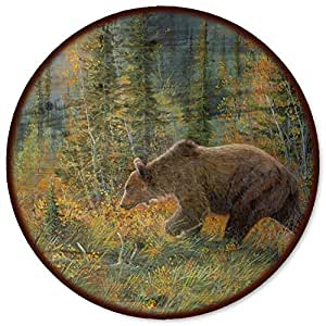 "WGI-GALLERY The Grizzly Walk Lazy Susan, 18"""