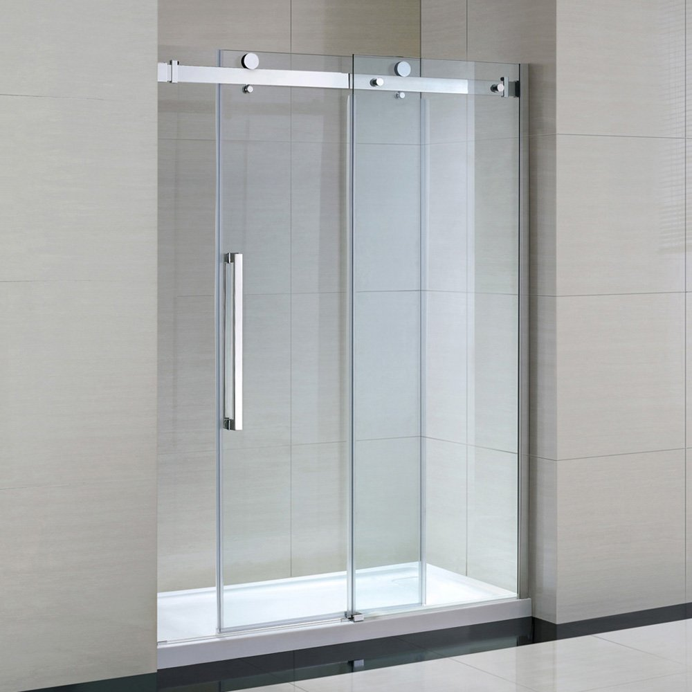 Ove Decors Sierra60GP Sierra 60 inch Frameless Shower Door, 2 Piece ...