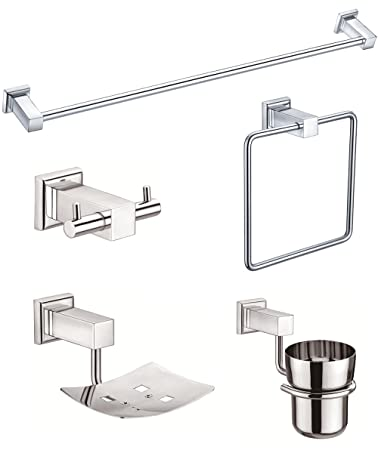 Jwell Bathroom Set Bath Set Stainless Steel Sl Bs Amazon In Home Improvement