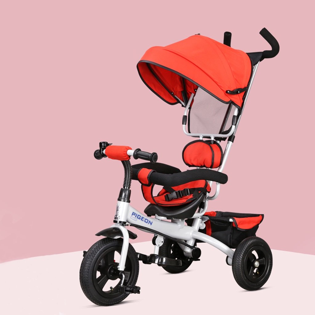 子供の三輪車1-5歳の赤ちゃん/子供用自転車ベビーカー、赤/紫/青、75 * 50 * 103センチメートル ( Color : Red ) B07BZYWK9F