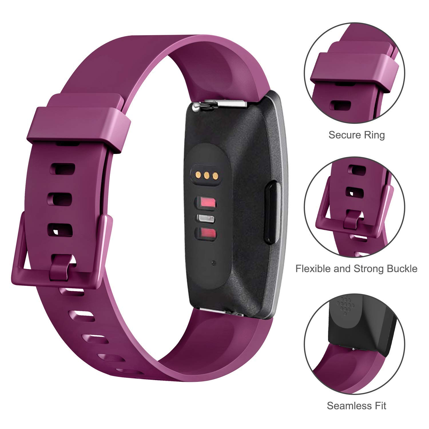 Tkasing Soft TPU Bands Compatible with Fitbit Inspire HR Fitbit Inspire Fitbit Ace 2 Wristbands Sports Waterproof Wristbands for Fitbit Inspire HR for Women Men