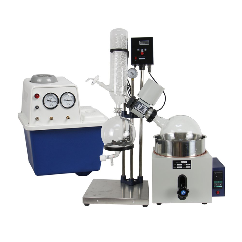 lab1st 5L Rotary Evaporator Hand Lifting Turnkey Package w/Water Vacuum Pump