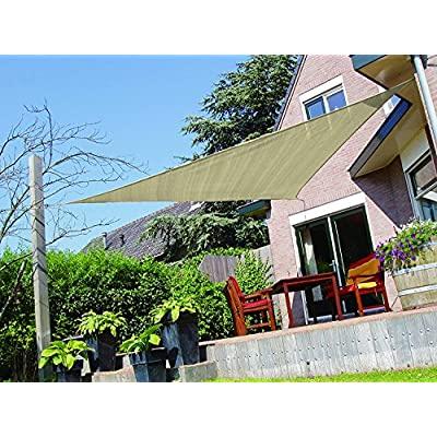 Sun Shade Sail Triangle 12'x12'x12' UV Block Fabric Patio Canopy : Garden & Outdoor