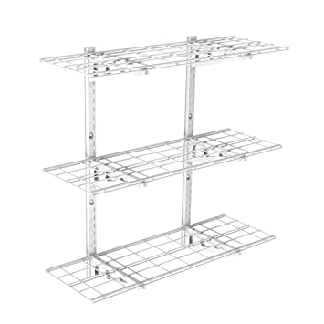 FLEXIMOUNTS 3 Tier Storage Wall Shelves 1x3ft 12 Inch By 36