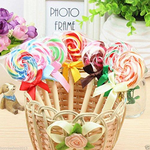 AMAZZANG-8Pcs Cute candy lollipop ballpoint pen Kawaii pens for school Stationery