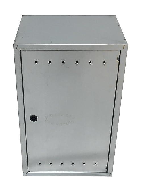 Caja galvanizada de acero inoxidable para contadores de agua/ acero galvanizado. /Distintos tama/ños