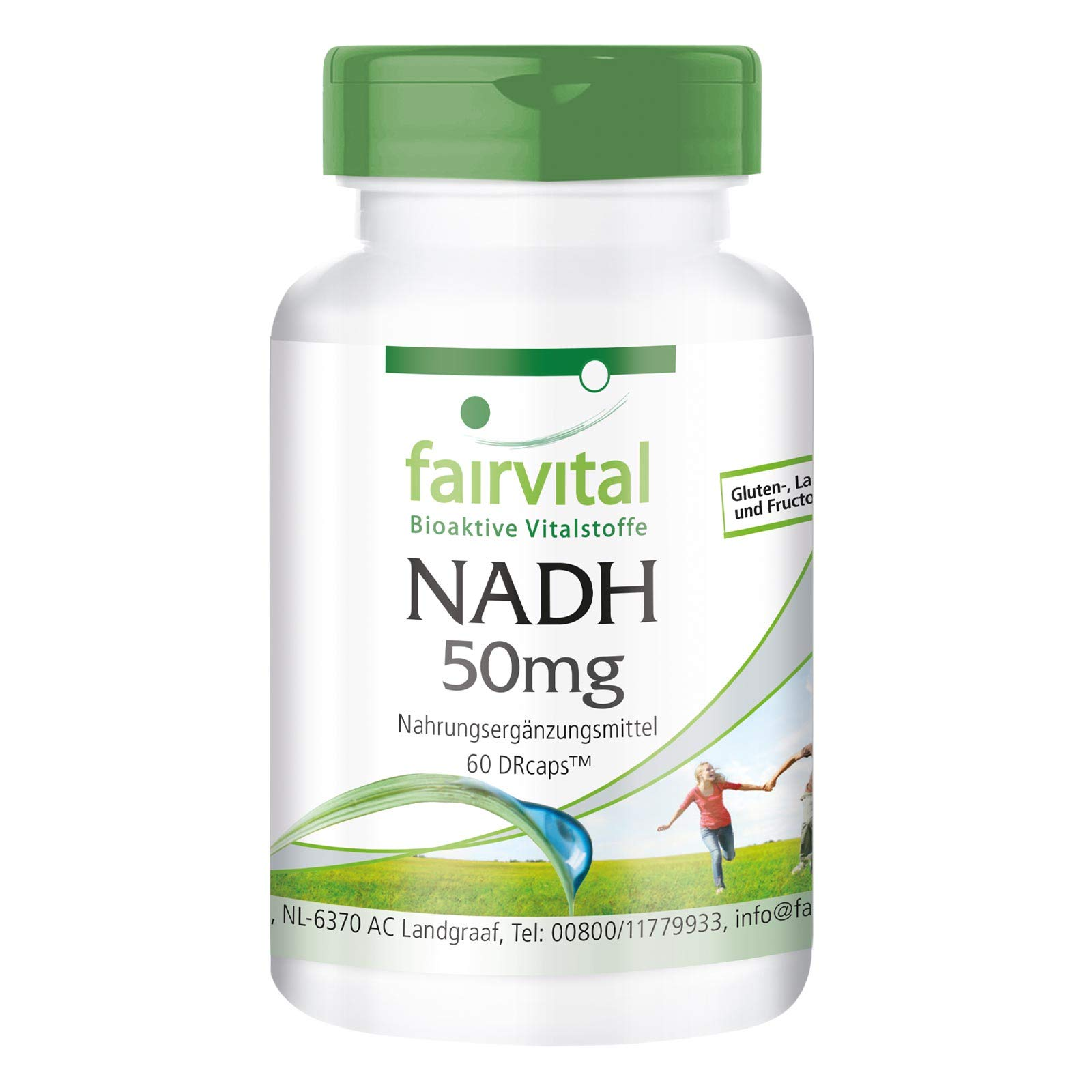 NADH 50mg - Vegan - HIGH Dosage - 60 Capsules - Delayed Release Due to DRCaps