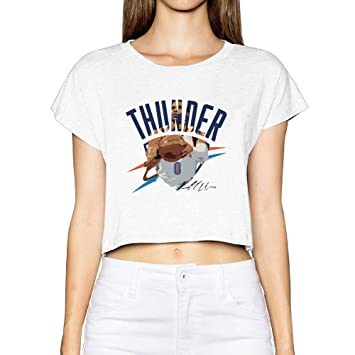 da6632be1f73 Amazon.com  Custom Woman Russell 0  Westbrook Basketball Player Crop ...