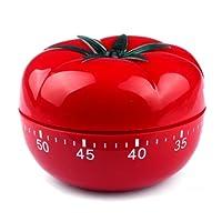 TOOGOO Minuteur de cuisine en forme de tomates rouges mignonnes Minuterie 60 minutes Minuteur de cuisine mecanique necessaire Reveil de heure