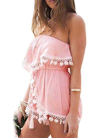 1a1976fc0bf7 Amazon.com  eshion Women Off-Shoulder Clubwear Chiffon Backless ...