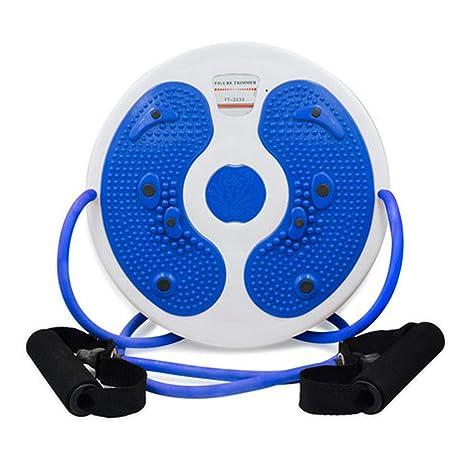 rund blau Massage Wackel-Teller mit Handseilen und ohne Seile Fu/ß-Massageger/ät Fitnessscheibe Stepper Kemket Magnetischer Taillen-Twister