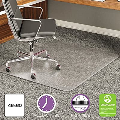 deflect-o Execumat Studded Beveled Chair Mat for High Pile Carpet
