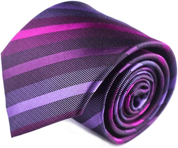 corbatas rayas de hombre morada fucsia lila corbatas púrpura finas ...