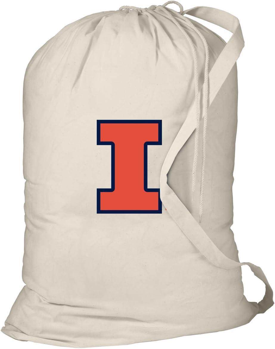 Broad Bay Illinois Illini Laundry Bag University of Illinois Dirty Clothes Bag