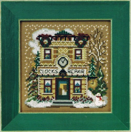 Town Hardware Beaded Counted Cross Stitch Kit Mill Hill Buttons /& Beads 2016 Winter Series MH141631 Christmas Village Series