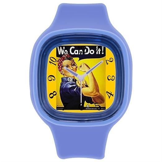 Correa de piel Para Hombre La II Guerra Mundial Rosie - War esfuerzo reloj para hombre de piel, color marrón: Amazon.es: Relojes