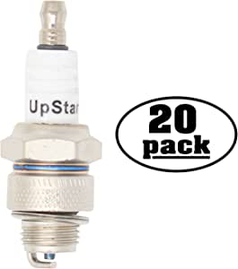 20-Pack Compatible Spark Plug for 1985 Suzuki Motorcycle TS50XAE 50cc - Compatible Champion L82YC & NGK BP6HS Spark Plugs