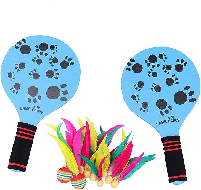 LIOOBO Juego Raquetas Palas Badminton de Playa Juego y ...