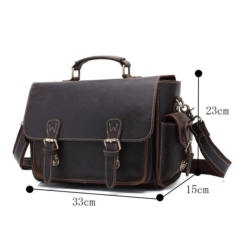 Genda 2Archer Genuine Leather Vintage Waterproof Camera Case Cross-body Shoulder Messenger Bag