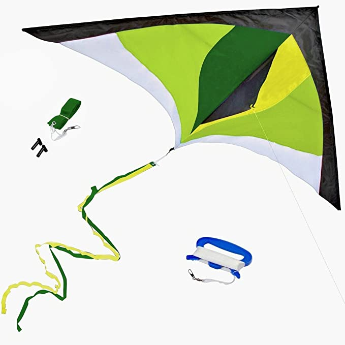 GUJIKE Kites for Kids /& Adults Large Easy to Fly with 5m Tail and 300ft Kite String Delta Kite Easy to Assemble Great Gift to Kids Childhood Precious Memories