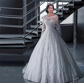 LUCKY-U Vestidos de novia Vestido de novia Largo Fiesta Vestido de fiesta de graduación