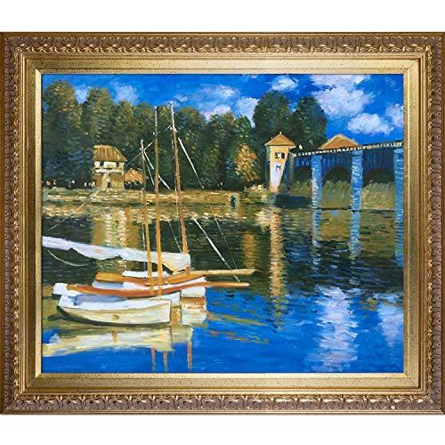 overstockArt Monet The Road Bridge at Argenteuil