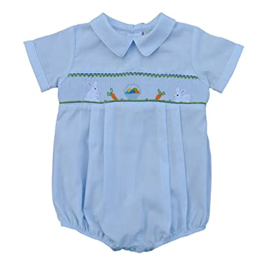 7d6f834d7 Amazon.com  Carriage Boutique Baby Boy Blue Creeper - Hand Smocked ...