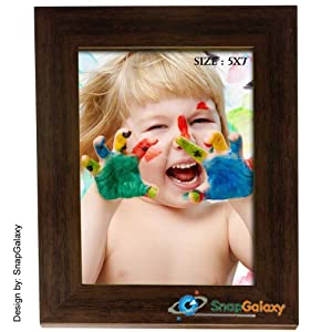 Snapgalaxy Single Picture Frame 5x7, Brown