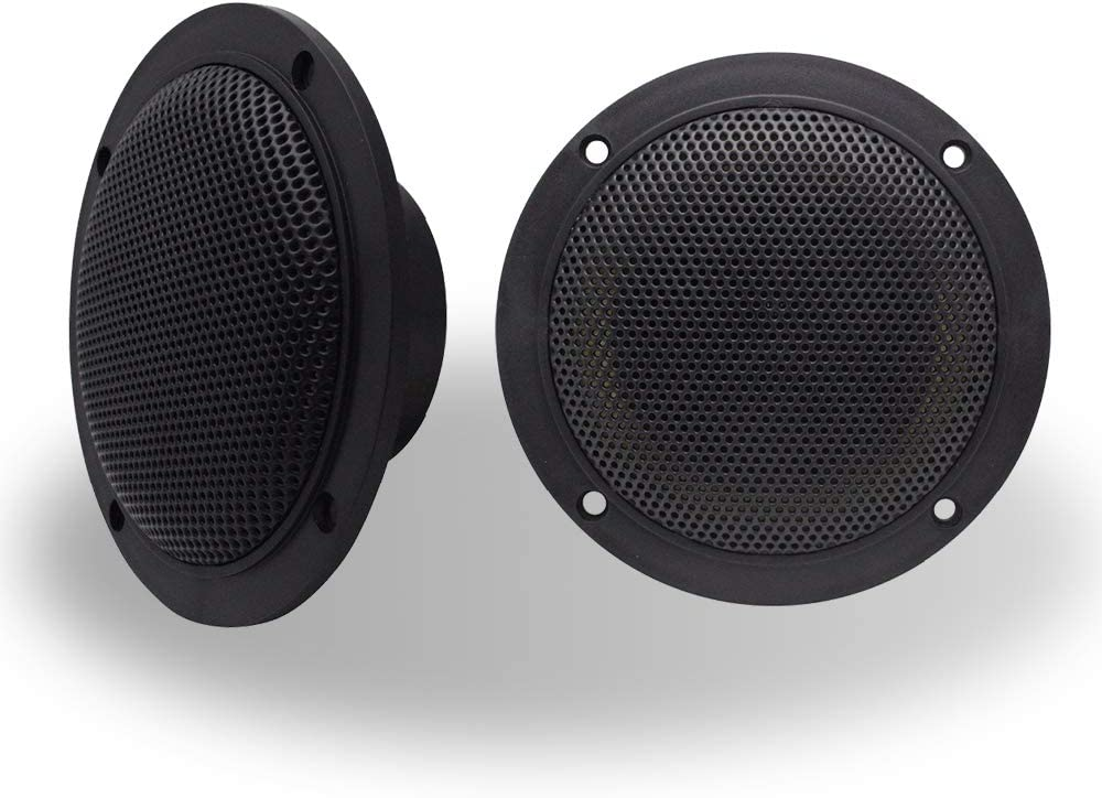 car,Motorcycle Cloth Surround and Low Profile Design in Color Black Handling for Boat Arrer 4 Inch Dual Marine Speaker-Waterproof Outdoor Audio Stereo Sound Speaker with 160Watts Power