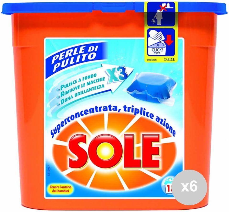 Sole Sol Juego de 6 Lavadora 18 Perlas Eco dosis gelcap detergente ...