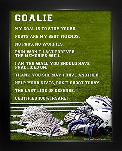 "Framed Lacrosse Goalie 8"" x 10"" Sport Poster Print by Posters and Prints by Magnetic Impressions"