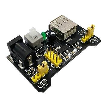 FengYun® Módulo de fuente de alimentación MB102 Breadboard 3.3V / 5V para placa de tablero sin soldadura Arduino: Amazon.es: Electrónica
