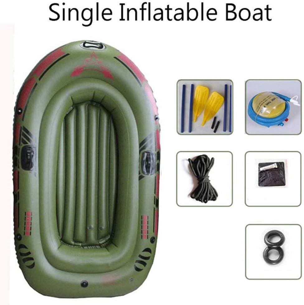 WLLP 95 * 54in 2/3 Persona Remo Inflable, rodamiento de Barco 220lb Durable PVC Caucho Pesca Pesca Kayak Barco a la Deriva Navegación Velero Navegación