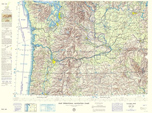 Topographical Map - Columbia River Idaho, Oregon, Washington 1962 - 23 x 30.85 - Glossy Satin Paper (Oregon Wall Map)