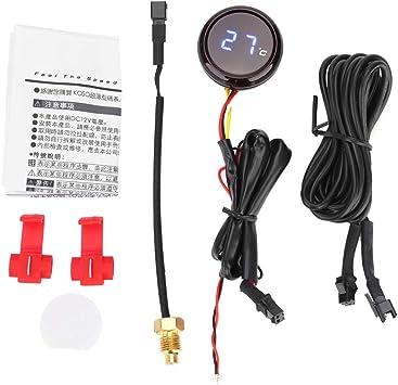 Reminnbor Motorrad Thermometer Digital 12v Wassertem Peraturanzeige Manometer Für Motorrad Blau Auto