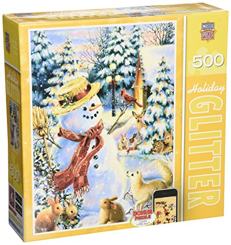 MasterPieces Holiday Glitter Holiday Party Jigsaw Puzzle, Art by Dona Gelsinger, - Glitter Holiday