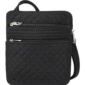 d199530d25e Travelon Anti-Theft Boho Slim Bag Travel Cross-Body, Black, One Size