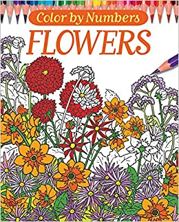 Color By Numbers Flowers Chartwell Coloring Books Else Lennox