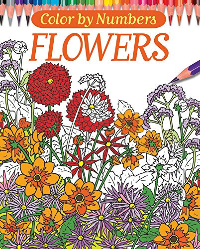 Download Color By Numbers - Flowers (Chartwell Coloring Books) pdf epub