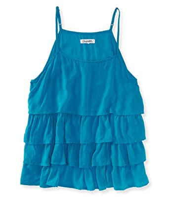 9783b062aa398 Amazon.com  Aeropostale Womens Tiered Tank Top  Clothing