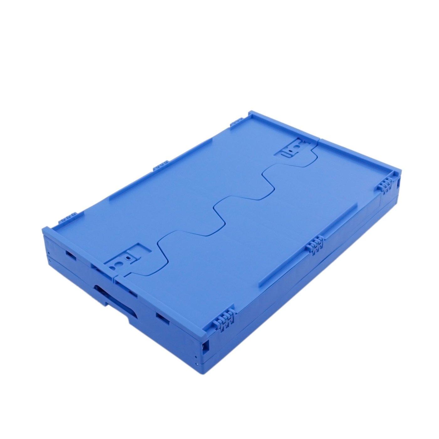 Plastikbox max Transportbox stabile Klappbox Made in Germany KLAPPBOX 61 Liter Blau Kunststoff Transportkiste 60kg 60x40x32cm