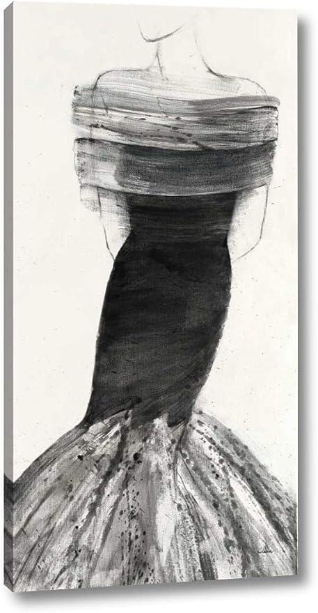 Amazon Com Fashionista Iv By Albena Hristova 12 X 24 Canvas Art Print Gallery Wrapped Ready To Hang Posters Prints