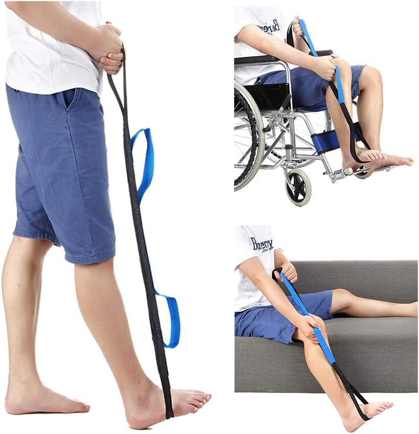 Levantador de muslos y piernas Correa de levantamiento de movilidad Ayudas levantar piernas de edad avanzada Pie Correas - Senior adultos discapacitados para silla de ruedas silla cama automóvil