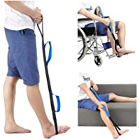 """Leg Lifter Strap Rigid Foot Lifter & Hand Grip - Elderly, Handicap, Disability, Pediatrics 37"""" Mobility Aids for Wheelchair, Bed, Car, Couch, Hip & Knee Replacement"""