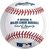 """Amscan Baseball Dream Rawlings Disposable Round Luncheon Plates, White/Red, 9"""""""